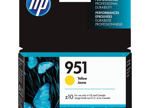 HP 951 Yellow Original Ink Cartridge, CN052AN#140