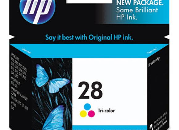 HP 28 Tri-color Original Ink Cartridge, C8728AN#140