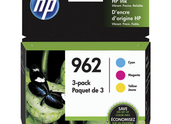 HP 962 - 3-Pack - Yellow, Cyan, Magenta - Original - Officejet - Ink (3YP00AN)