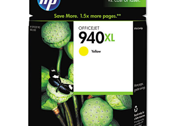 HP 940XL High Yield Yellow Original Ink Cartridge, C4909AN#140