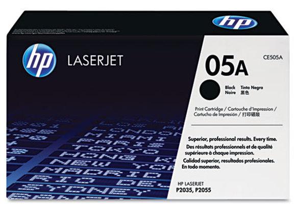 HP 05A Black Original LaserJet Toner Cartridge, CE505A