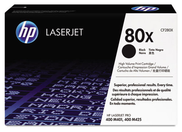 HP 80X High Yield Black Original LaserJet Toner Cartridge, CF280X