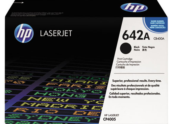 HP 642A, (CB400A) Black Original LaserJet Toner Cartridge