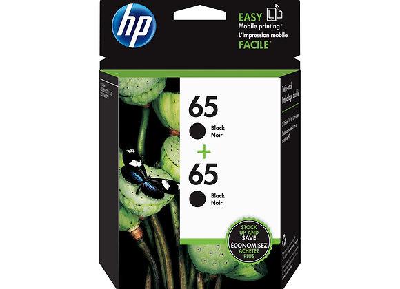 HP 65 Black Ink Cartridge 2-Pack NA