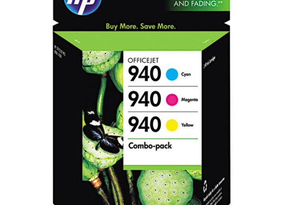 HP 940 3-pack Cyan/Magenta/Yellow Original Ink Cartridges, CN065FN#140