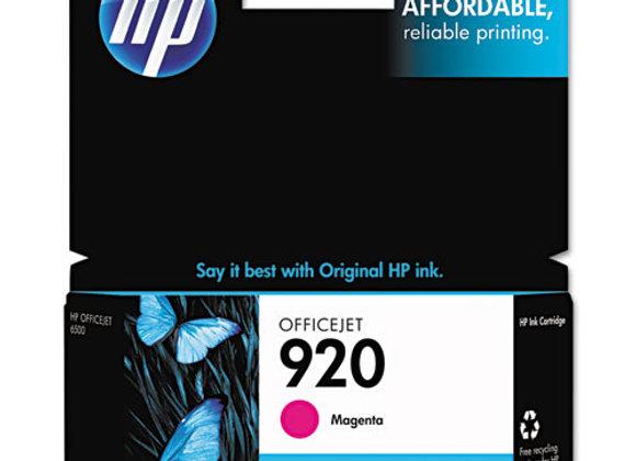 HP 920 Magenta Original Ink Cartridge, CH635AN#140