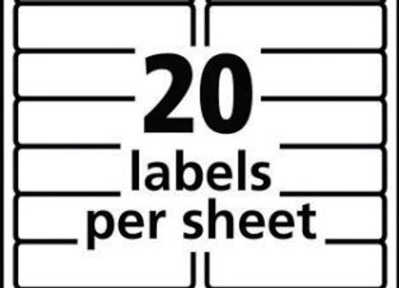 "LABELS 1"" x 4"" ADDRESS 20SHT 1,000SHTS"