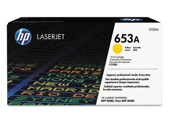 HP 653A Yellow Original LaserJet Toner Cartridge, CF322A