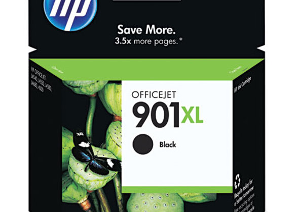 HP 901XL High Yield Black Original Ink Cartridge, CC654AN#140