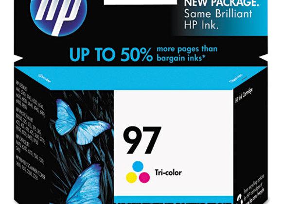HP 97 Tri-color Original Ink Cartridge, C9363WN#140