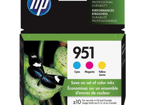HP 951 3-pack Cyan/Magenta/Yellow Original Ink Cartridges, CR314FN#140