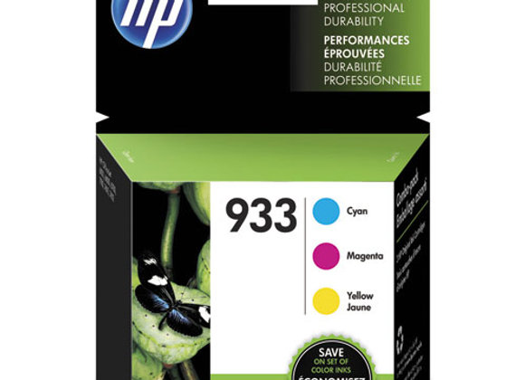 HP 933 3-pack Cyan/Magenta/Yellow Original Ink Cartridges, N9H56FN#140