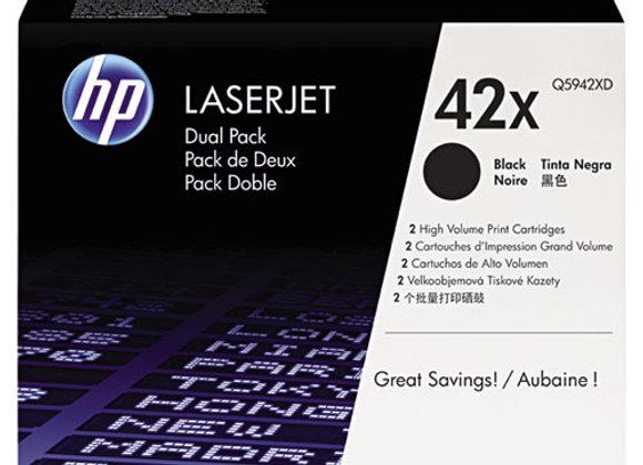 HP 42X 2-pack High Yield Black Original LaserJet Toner Cartridges, Q5942XD