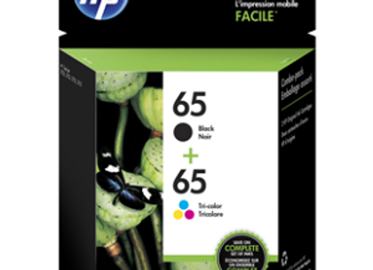 HP 65 T0A36AN Black & Tri-color Combo Pack