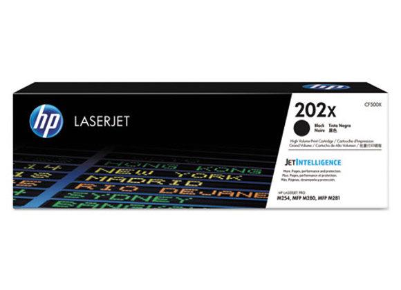 HP 202X High Yield Black Original LaserJet Toner Cartridge, CF500X