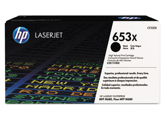 HP 653X High Yield Black Original LaserJet Toner Cartridge, CF320X