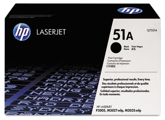 HP 51A Black Original LaserJet Toner Cartridge, Q7551A