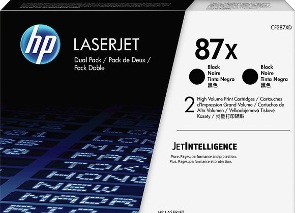 HP 87XD (CF287XD) 2-pack XL Black Toner