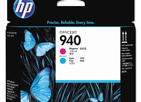 HP 940 Magenta and Cyan Original Printhead, C4901A