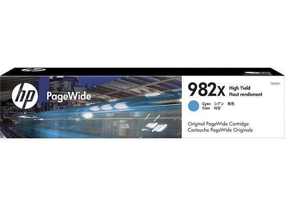 HP 982X High Yield Cyan Original PageWide Cartridge, T0B27A