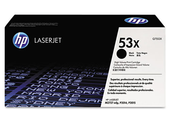 HP 53X High Yield Black Original LaserJet Toner Cartridge, Q7553X