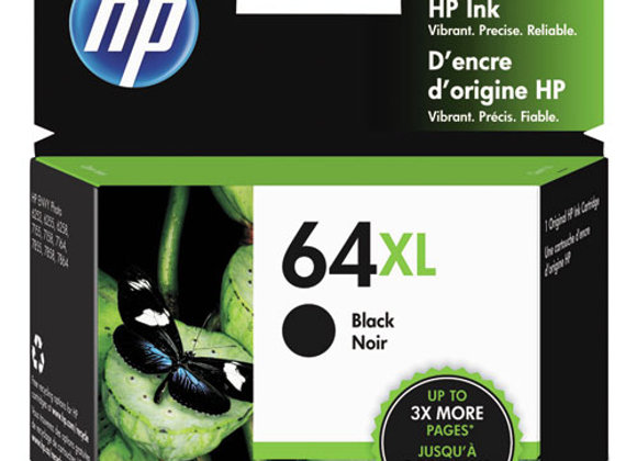 HP 64XL, (N9J92AN) High-Yield Black Original Ink Cartridge