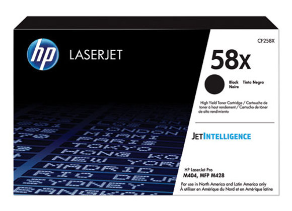 HP 58X - High Yield - Black - Original - Laserjet - Toner Cartridge (CF258X)