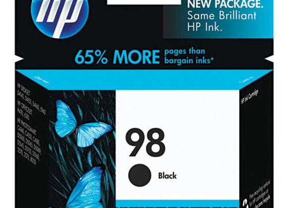 HP 98 Black Original Ink Cartridge, C9364WN#140