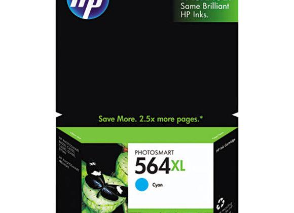 HP 564XL, (CB323WN) High-Yield Cyan Original Ink Cartridge