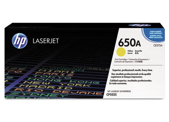 HP 650A Yellow Original LaserJet Toner Cartridge, CE272A