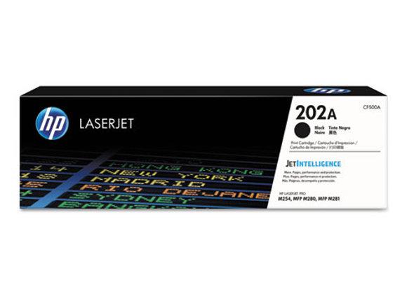 HP 202A Black Original LaserJet Toner Cartridge, CF500A