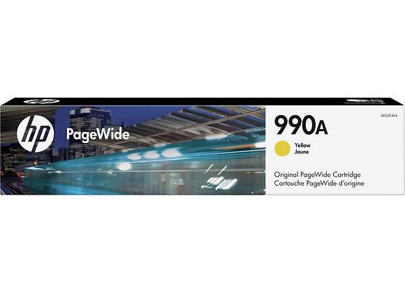 HP 990A Yellow Original PageWide Cartridge, M0J81AN