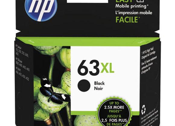 HP 63XL - High Yield - Black - Original - Ink Cartridge (F6U62AN)