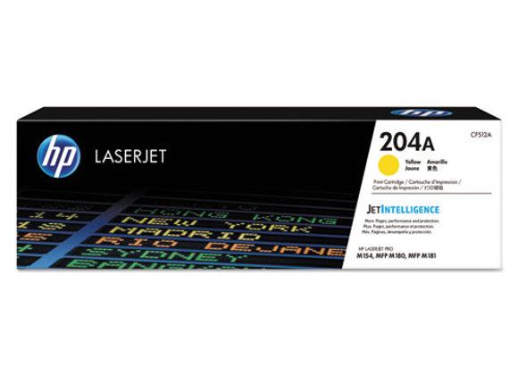 HP 204A Yellow Original LaserJet Toner Cartridge, CF512A