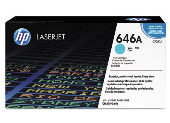 HP 646A Cyan Original LaserJet Toner Cartridge, CF031A