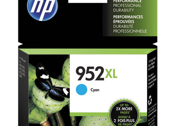 HP 952XL, (L0S61AN) High-Yield Cyan Original Ink Cartridge