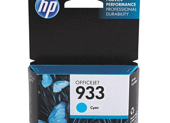 HP 933 Cyan Original Ink Cartridge, CN058AN#140