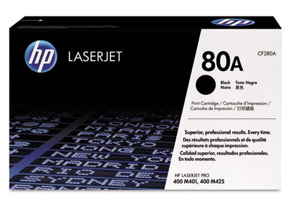 HP 80A Black Original LaserJet Toner Cartridge, CF280A