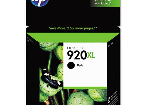 HP 920XL High Yield Black Original Ink Cartridge, CD975AN#140