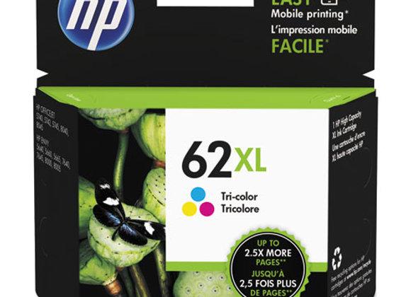 HP 62XL, (C2P07AN) High-Yield Tri-Color Original Ink Cartridge