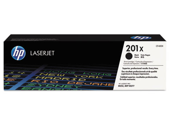 HP 201X High Yield Black Original LaserJet Toner Cartridge, CF400X
