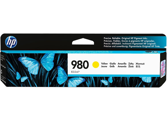 HP 980 Yellow Original Ink Cartridge, D8J09A
