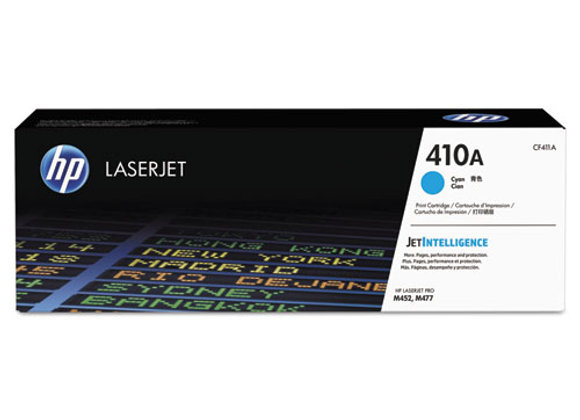HP 410A Cyan Original LaserJet Toner Cartridge, CF411A