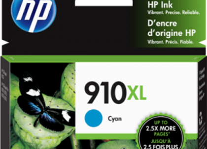 HP 910XL Cyan 3YL62AN Genuine Ink Cartridge High Yield
