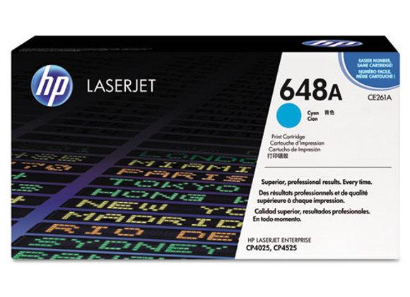 HP 648A Cyan Original LaserJet Toner Cartridge, CE261A