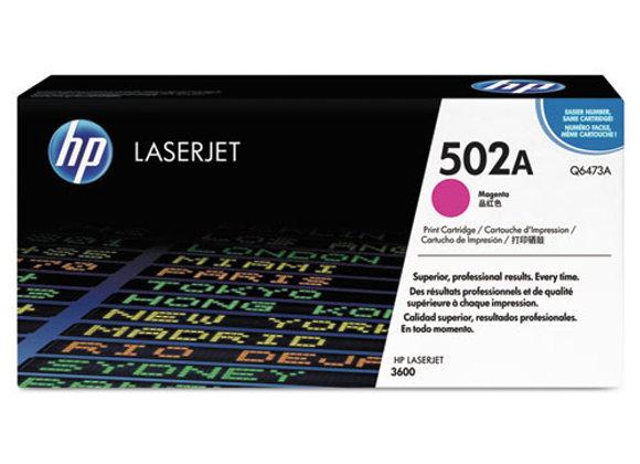HP 502A Magenta Original LaserJet Toner Cartridge, Q6473A