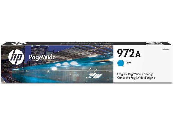 HP 972A Cyan Original PageWide Cartridge, L0R86AN