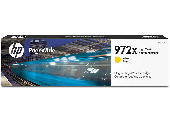 HP 972X High Yield Yellow Original PageWide Cartridge, L0S04AN