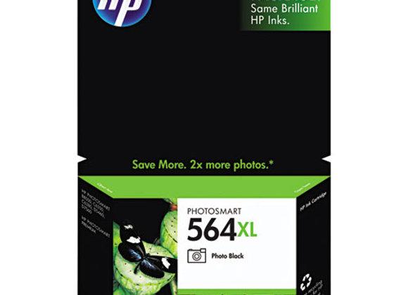 HP 564XL, (CB322WN) High-Yield Photo Black Original Ink Cartridge