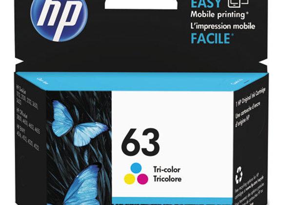 HP 63 - Tri-Color (CYM) - Original - Ink Cartridge (F6U61AN)